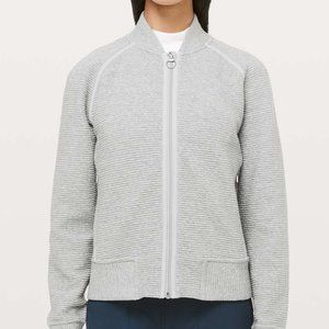 Lululemon On Repeat Zipped Bomber Heather Grey 10